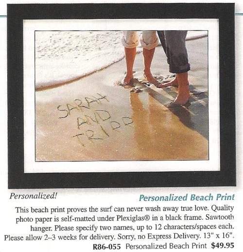 Personal Beach Print